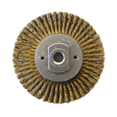 Brass Cable Twist Knot Wire Wheel