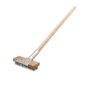 Broiler Brush With Horizontal Scraper