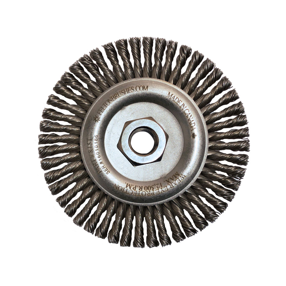 Filler Pass Wire Brush Arbor 1//2 W 5