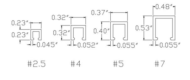 Strip Brush Holder Specs Diagram